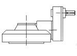 Bevel with input spur demultiplication - range 2CK